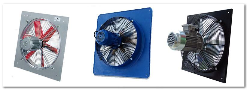 انواع هواکش آکسیال قوی بدون صدا کوپله شده با موتور موتوژن یا الکتروژن و برند های اروپایی