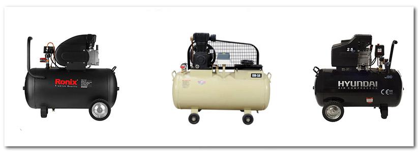 انواع پمپ باد 80 لیتری روغنی و کمپرسور باد 80 لیتری بدون روغن سایلنت