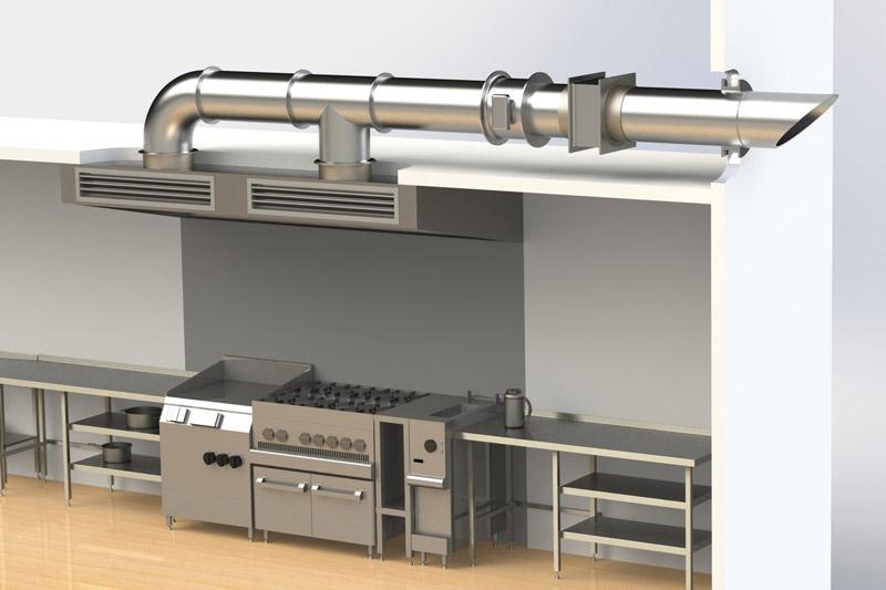 طراحی هود در آشپزخانه های صنعتی