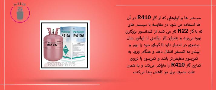 مزایای گاز R410
